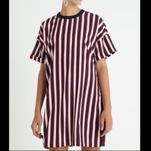 Noisy May Red White & Blue Striped Dress